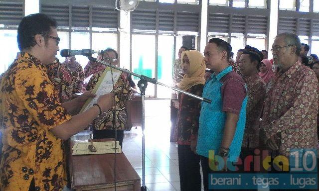 Panwascam Pati Lantik  Pengawas TPS Pilgub Jateng